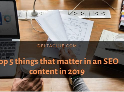 Top 5 things that matter in an SEO content in 2019